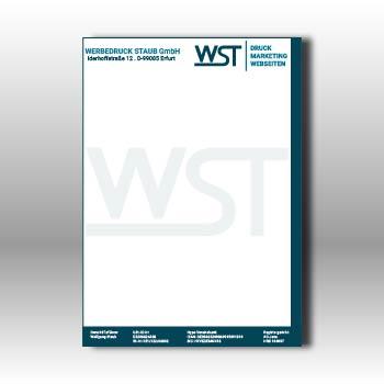 Briefpapier Din A4 210 X 297 Mm Werbedruck Staub