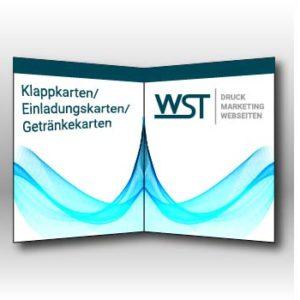 Klappkarte/ Einladungskarte/ Getränkekarten Werbedruck Staub GmbH