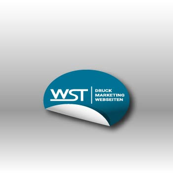 runder Aufkleber Werbedruck Staub GmbH