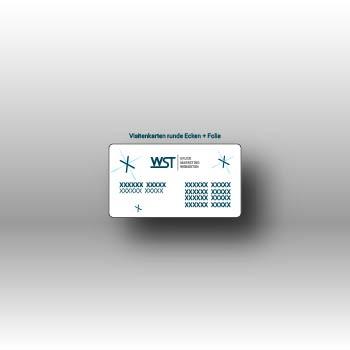 Visitenkarte mit abgerundeten Ecke Werbedruck Staub GmbH