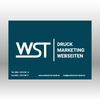 blauer Briefumschlag ohne Fenster Werbedruck Staub GmbH