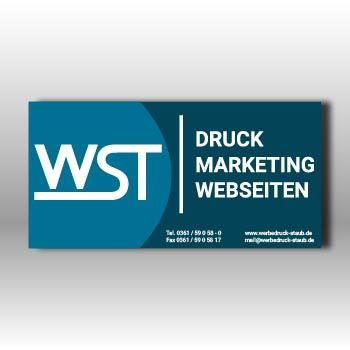 blaue Briefumschlag ohne Fenster Werbedruck Staub GmbH