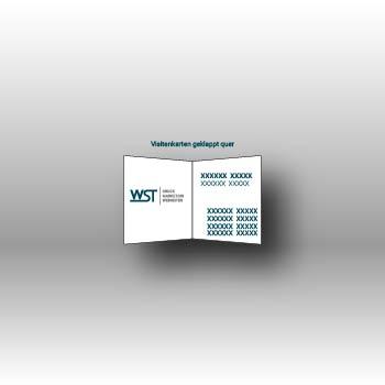 Visitenkarte geklappt Werbedruck Staub GmbH