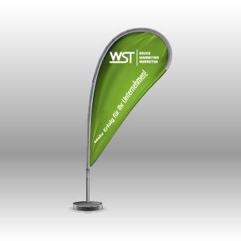 Beachflag Dropflag Werbedruck Staub GmbH
