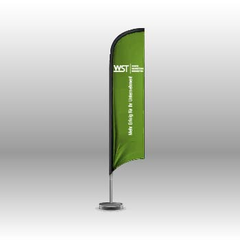 Beachflag Straighflag Werbedruck Staub GmbH