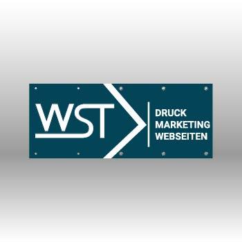 blauer Banner Werbedruck Staub GmbH