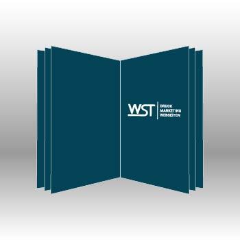 blauer Buch oder Broschüre Werbedruck Staub GmbH