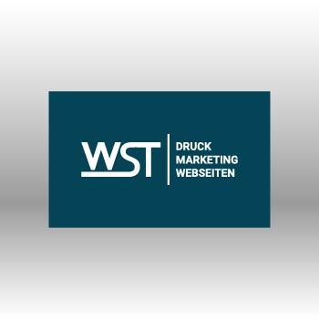 blauer Flyer Werbedruck Staub GmbH